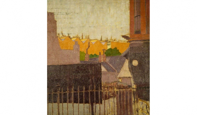 "Malcolm Drummond ""Backs of Houses, Chelsea"" (1914)"