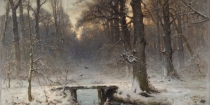 "Louis Apol ""A January Evening in the Haagse Bos"""